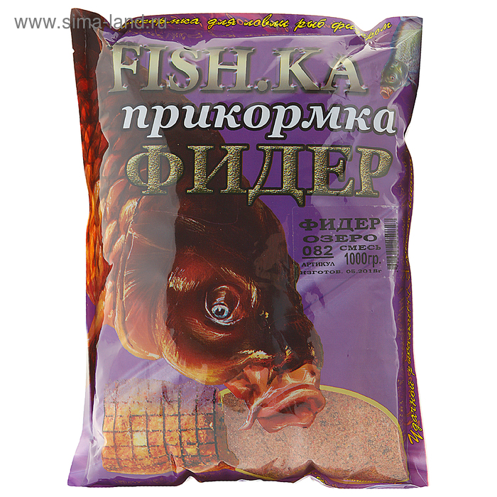 Прикормка Fish-ka Фидер-озеро, вес 1 кг