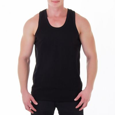Майка мужская, размер 48, цвет чёрный