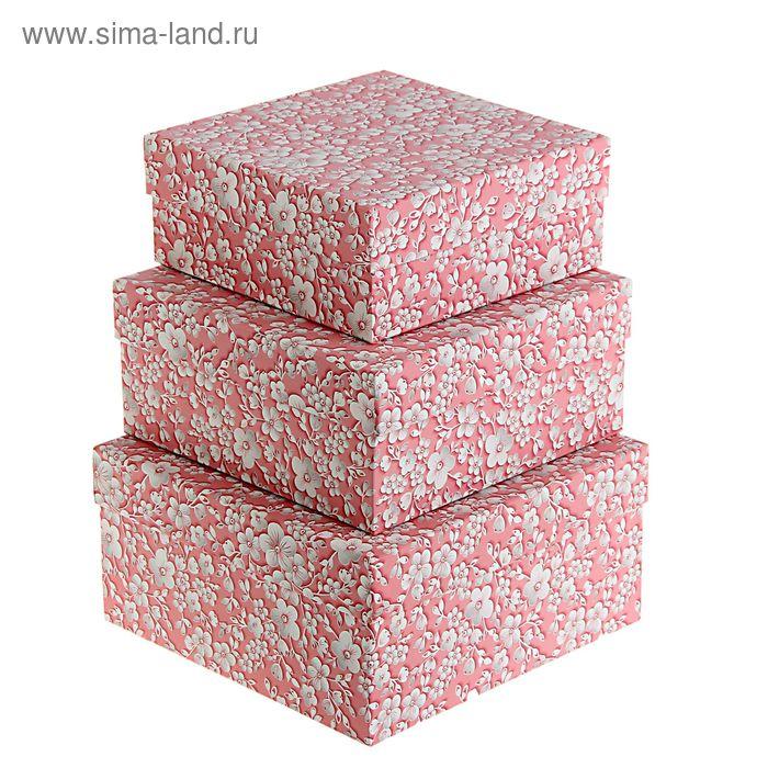 """Набор коробок 3 в 1 """"Розовый вьюнок"""""""