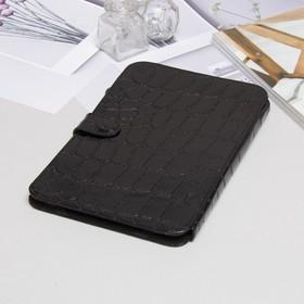 Чехол-книжка Time для планшета, универсальный, крокодил, цвет чёрный