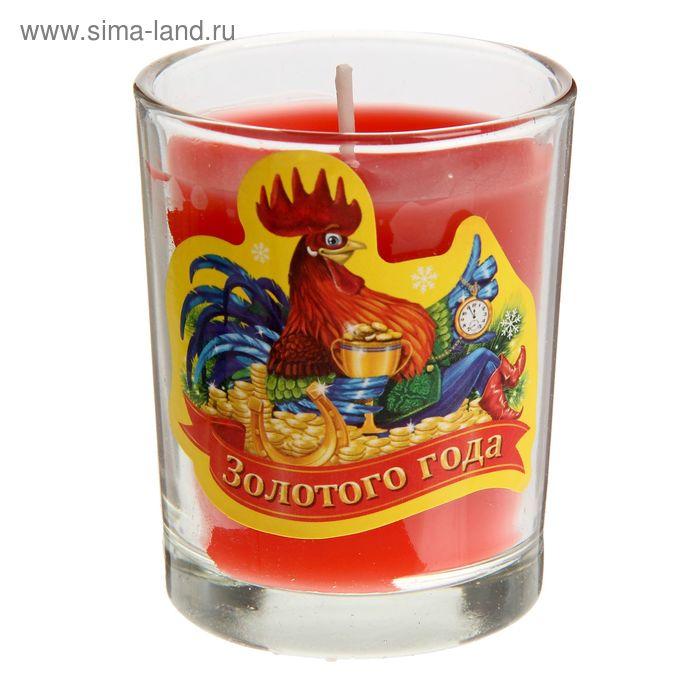 """Свеча в стеклянном стаканчике """"Золотого года"""""""