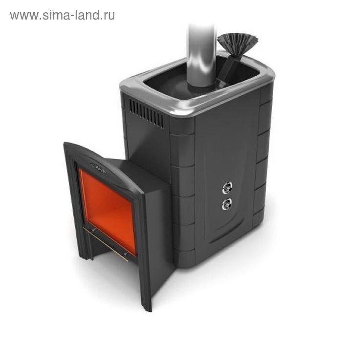 Печь банная Термофор Гейзер 2014 Inox витра ЗК ТО антрацит
