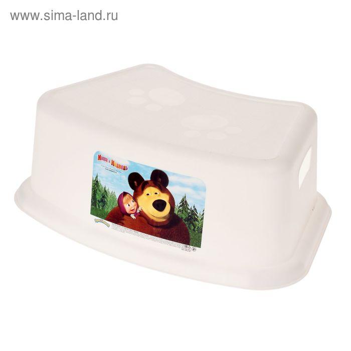 Подставка детская «Маша и медведь», цвет белый