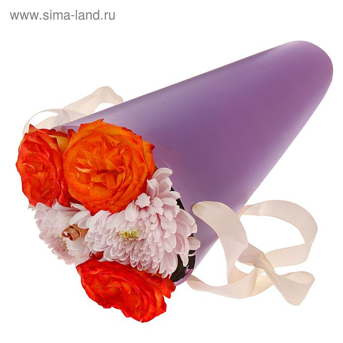 Упаковка для букетов и композиций 36,5 х 15 х 15 см, цвет сиреневый