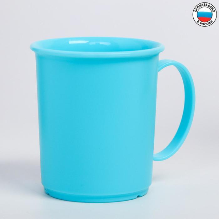 Кружка детская пластиковая, 180 мл, от 12 мес., цвет голубой