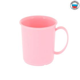 Кружка детская пластиковая, 180 мл, от 12 мес., цвет розовый Ош