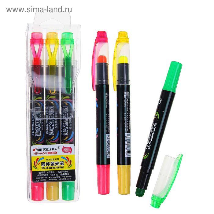 Набор маркеров гелевых 3 цвета наконечник круглый 5 мм