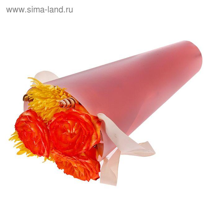 Упаковка для букетов и композиций 36,5 х 15 х 15 см, цвет розовый
