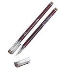 Ручка гелевая 0,38мм черная корпус бордо безстержневая игольчатый пишущий узел Кристалл