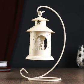 """Подсвечник """"Предложение"""" фонарь, 1 свеча, белый"""
