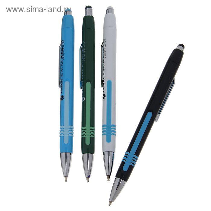 Ручка шариковая авт 0,5мм Vinson корпус МИКС Спэшэл с прорезин вставкой стержень масляный синий 1399