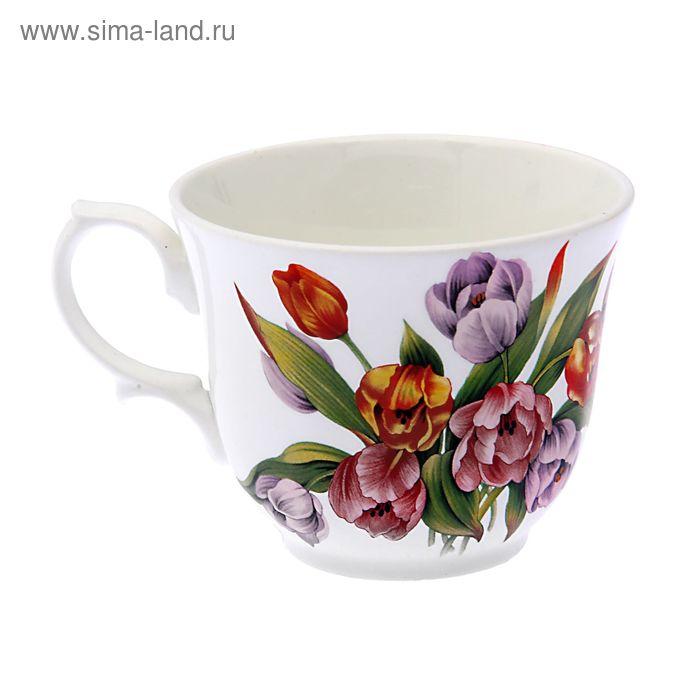 "Чашка чайная 270 мл ""Арина. Тюльпаны-2"", d=9,7 см"