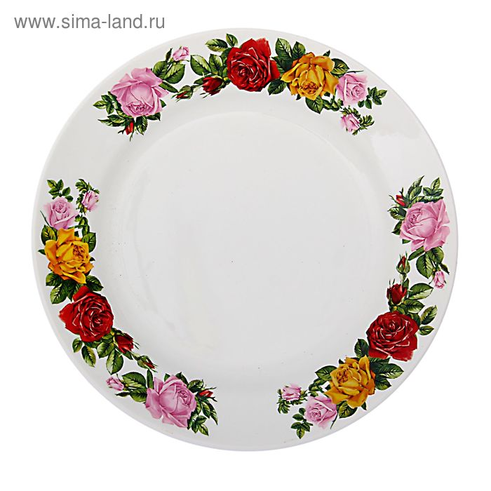 """Тарелка мелкая d=17,5 см h=2,6 см """"Розы"""""""