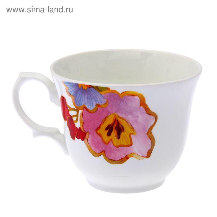 """Чашка чайная 270 мл """"Арина. Цветы-2"""", d=9,7 см"""