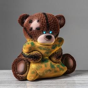 "Копилка ""Тед с подушкой"" флок, микс"