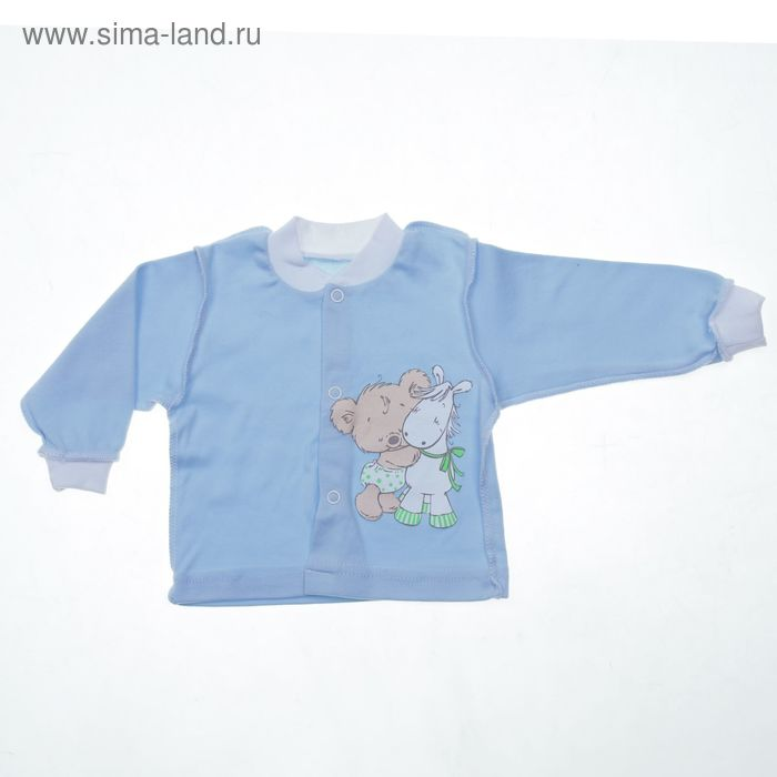 Кофта для мальчика, рост 62 см, цвет голубой (арт. К-192/А-04)