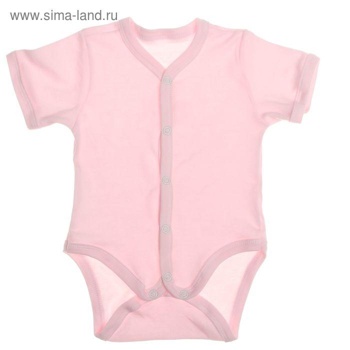 Боди для девочки, рост 80 см, цвет розовый (арт. Кб-308-04)