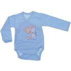 Боди для мальчика, рост 50 см, цвет голубой (арт. Кб-355/А-04)