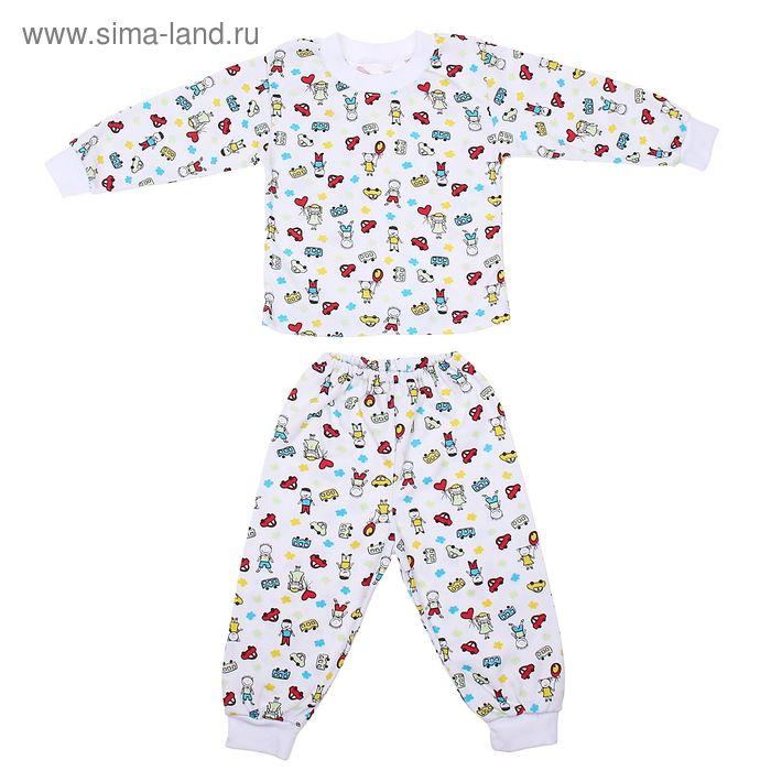 Пижама для девочки, рост 92 см, цвет МИКС (арт. Пж-524-04_М)
