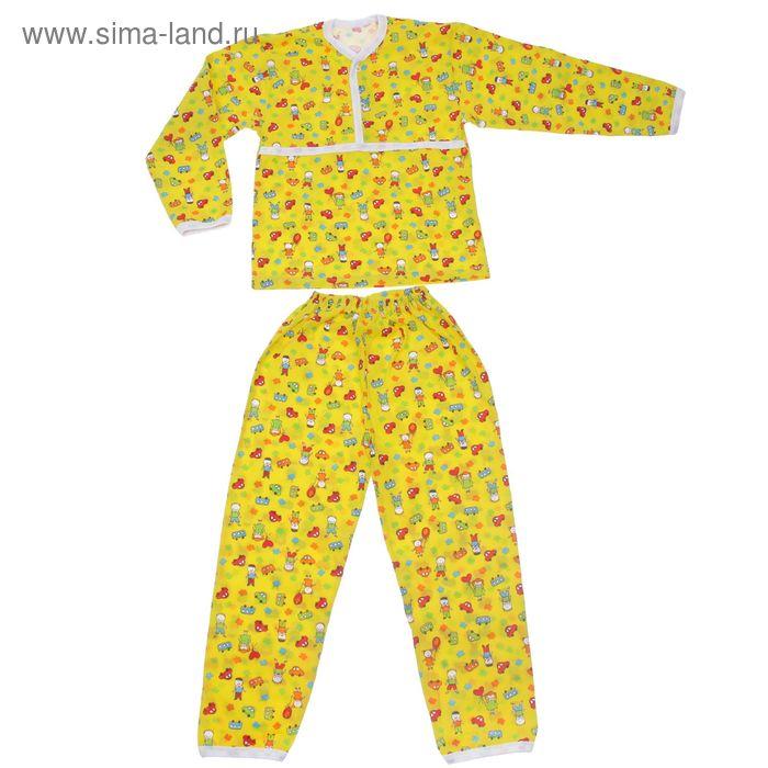 Пижама для мальчика, рост 122 см, цвет МИКС (арт. Пж-522-01_Д)