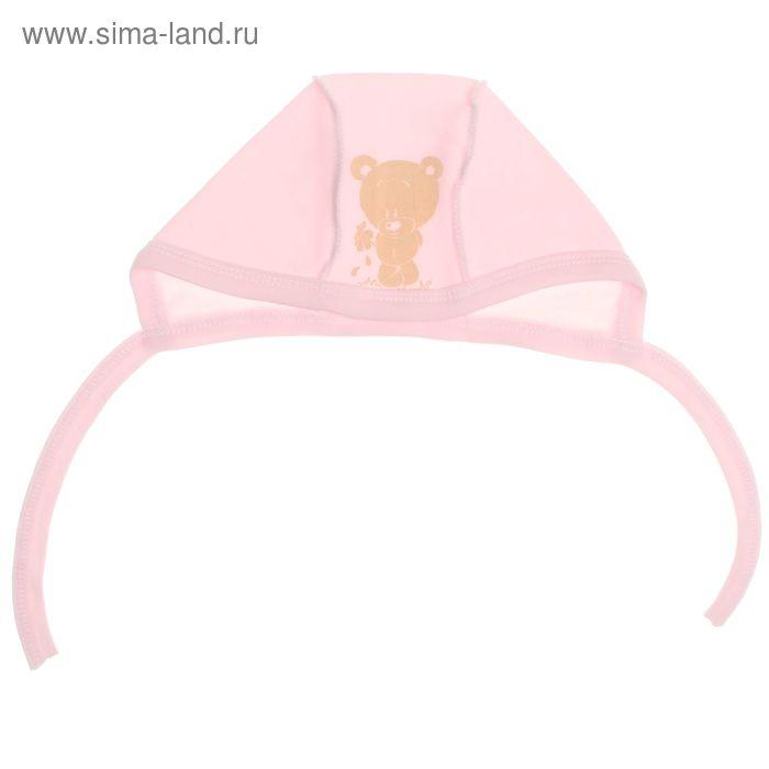 Чепчик для девочки, размер 4 (9 мес.), цвет розовый (арт. Ч-963/А-04)