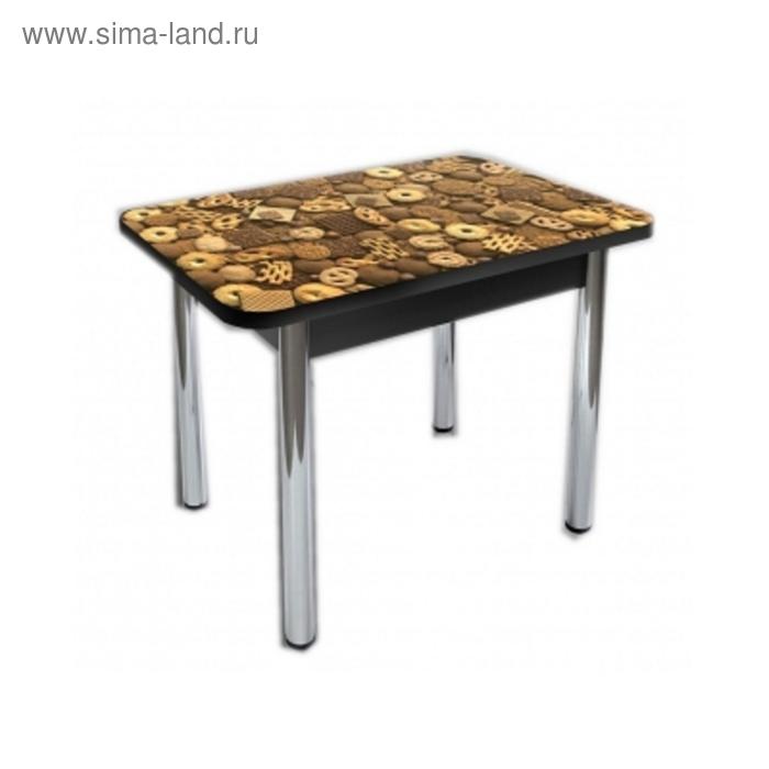 Стол обеденный Прямоугольный 1200х700х750 ф/п Печеньки /Венге