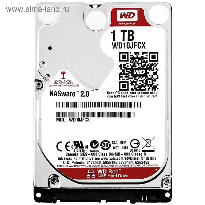 Жесткий диск WD Original SATA-III 1Tb WD10JFCX Red