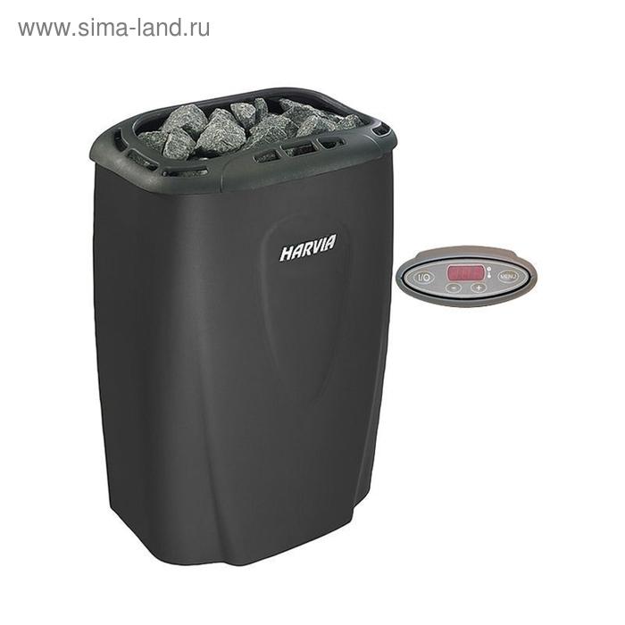 Harvia Электрическая печь Moderna E/1-3phase HVE800230M V80E-1 Black с выносным пультом в комплекте