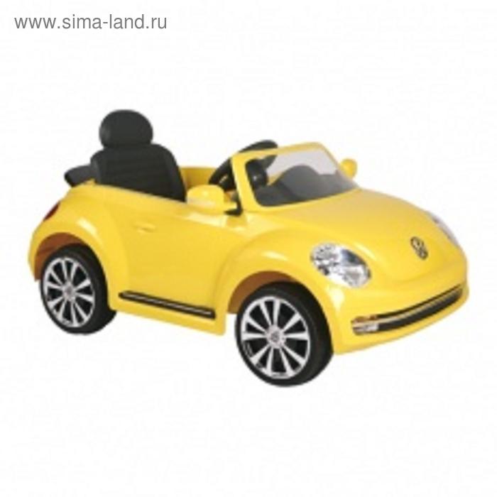 Электромобиль Volkswagen Beetle, цвет желтый