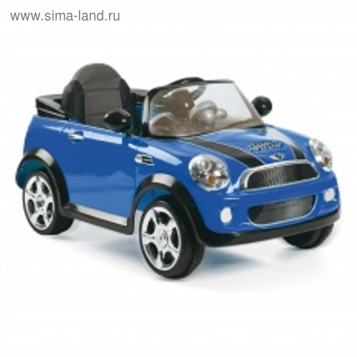 Электромобиль Mini Cooper S, цвет синий