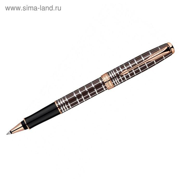 Ручка роллер Parker Sonnet T531 (1859483) Masculine Brown PGT (F) чернила: черный