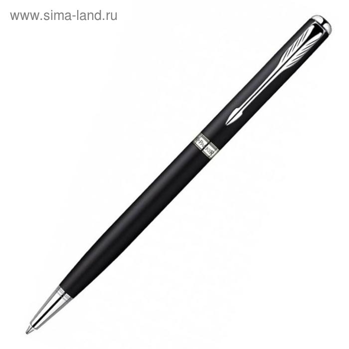 Ручка шариковая Parker Sonnet Slim K429 (S0818170) MattBlack CT (M) чернила: черный
