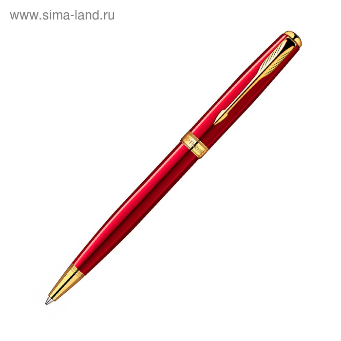 Ручка шариковая Parker Sonnet K539 (1859472) LaqRed GT (M) чернила: черный