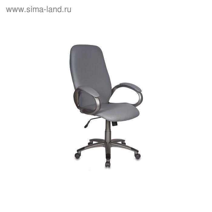 Кресло руководителя T-700DG/OR-17 серый, искусственная кожа