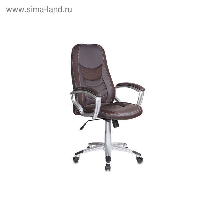 Кресло руководителя T-9910/BROWN коричневый, искусственная кожа