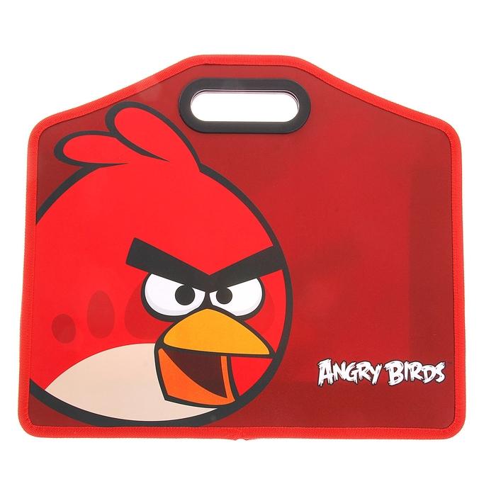Папка с вырубной ручкой пластик А4 370*320*80 Angry Birds красный