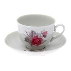 """Чашка чайная 275 мл с блюдцем """"Дикая роза"""""""