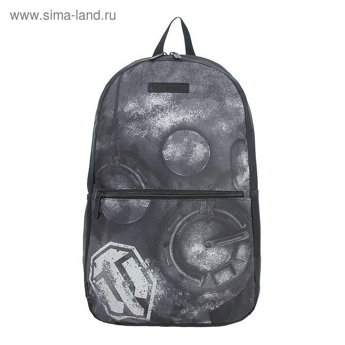 """Рюкзак на молнии """"Рисунок"""", 1 отдел, 2 наружных кармана, чёрный"""