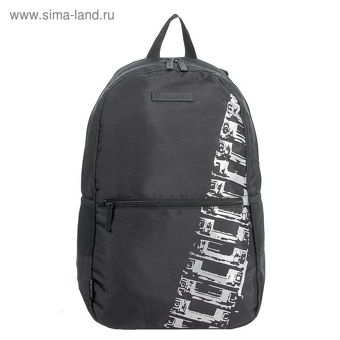 Рюкзак на молнии, 1 отдел, 2 наружных кармана, чёрный
