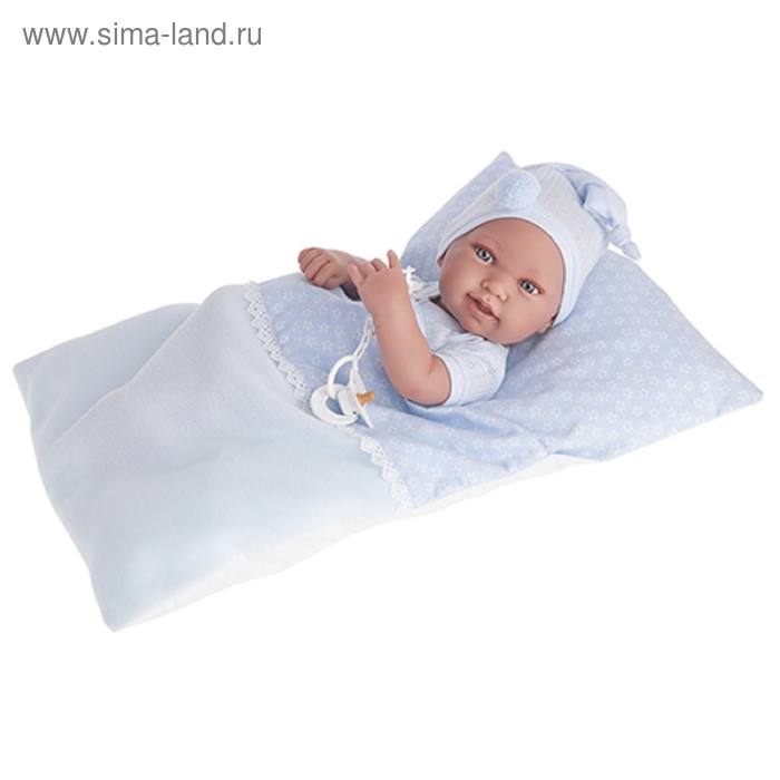"""Кукла-младенец """"Пипо"""", мальчик, в голубом"""