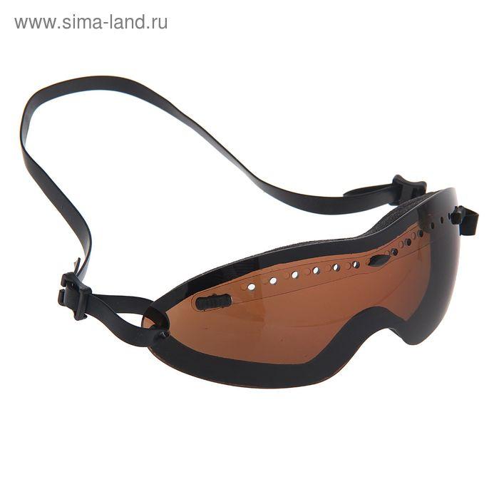 Очки защитные для страйкбола KINGRIN Tactical safety goggles (Brown) MA-62-H