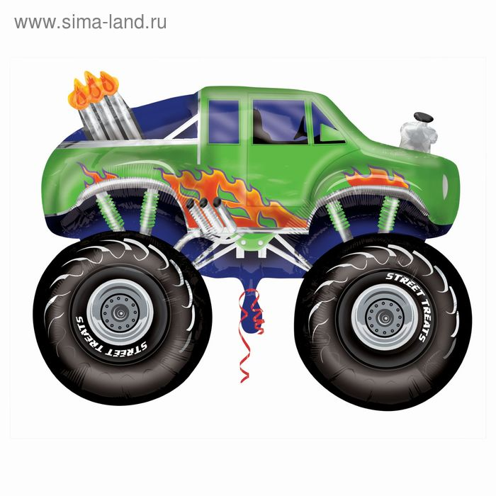 """Шар фольгированный STREET """"Джип монстр"""" 37"""" зеленый АГ"""