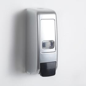 Диспенсер жидкого мыла механический 600 мл, пластик, цвет серый Ош