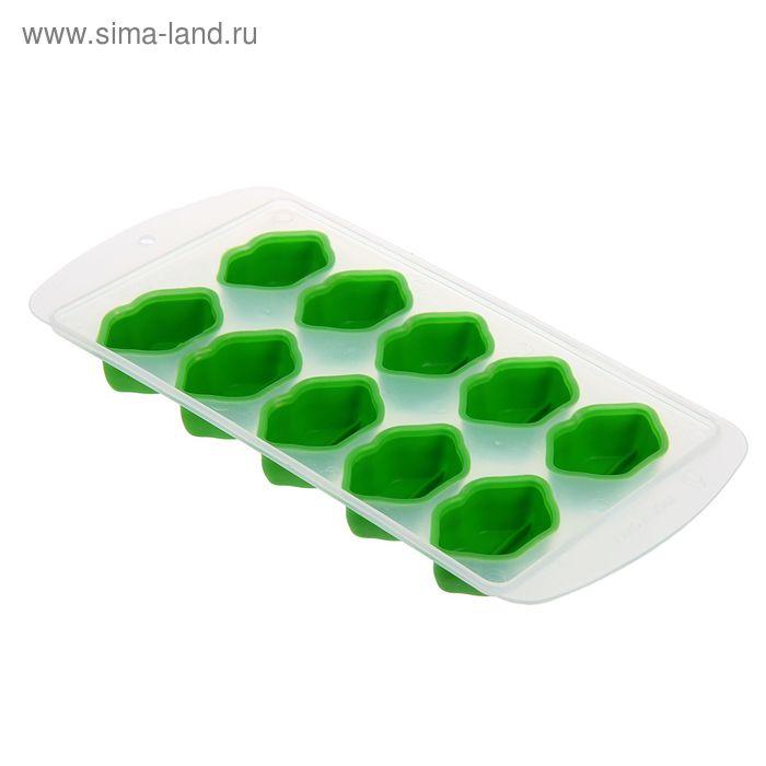 """Форма для льда 10 ячеек 20х11х2 см """"Губки"""", цвет МИКС"""