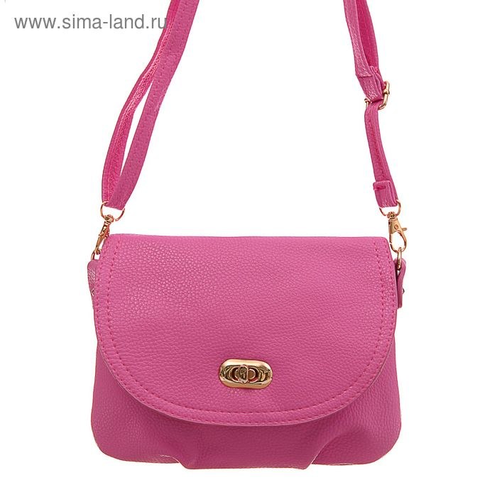 """Сумка женская """"Карин"""", 1 отдел, 1 наружный карман, длинный ремень, розовая"""