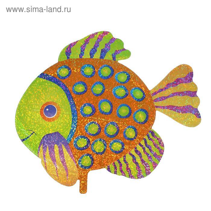"""Шар фольгированный 33"""" """"Рыба"""", голография"""