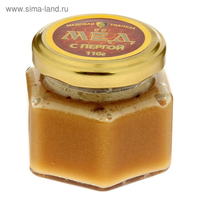 """Мёд Медовая компания """"Медовые традиции"""", с пергой, стеклянная банка, 110 гр."""