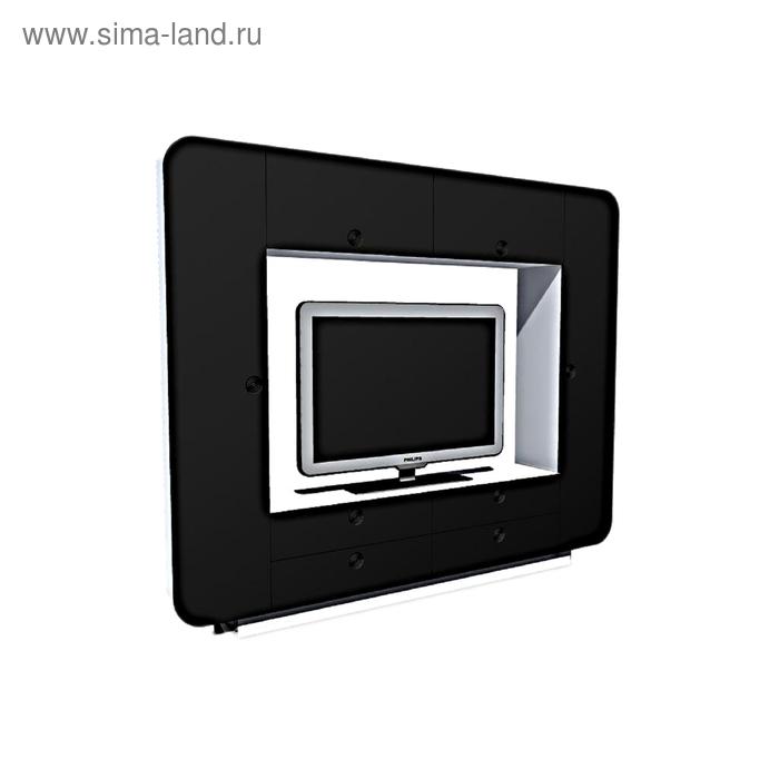 Стенка Некст 2400x350x1950  Черный глянец/Белый текстурный