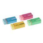 Ластик Pentel синтетика Hi-Polymer 33*17.5*11.5, цветной: микс 4, микрокапсулы растворяют надпись