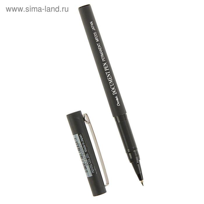 Ручка роллер Pentel Document Pen, 0.5мм, прманентные черные чернила, одноразовая (пишет 1400м)